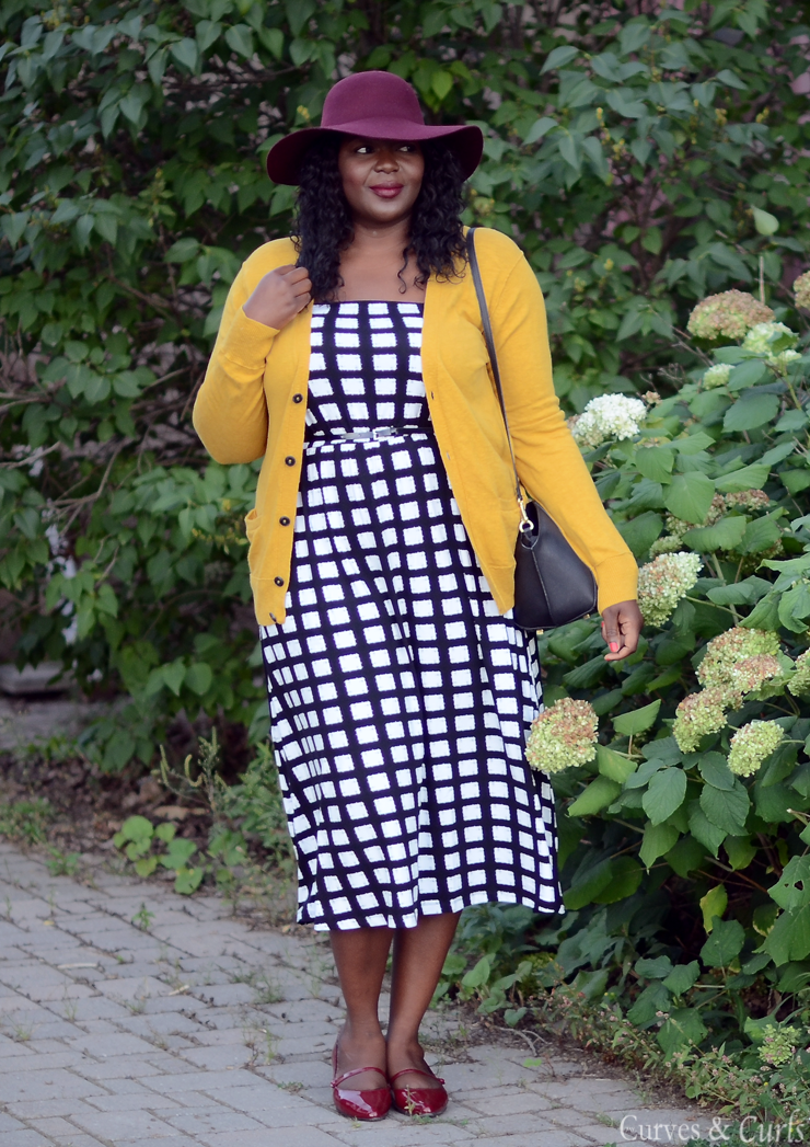 Bandeau-Dress-In-Check-Asos-Fall-plus-size-outift-inspiration3